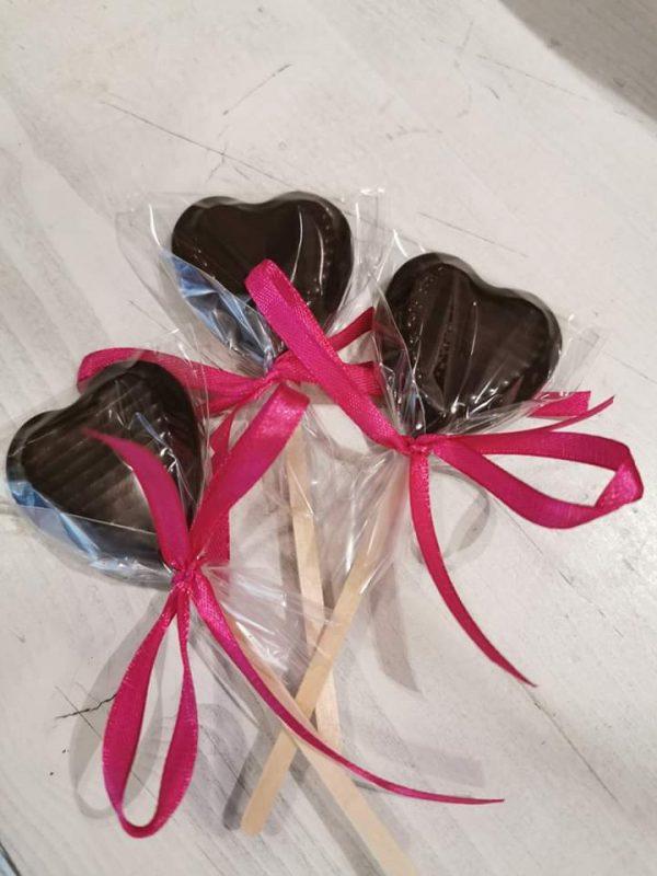 Шоколадово сърце на клечка